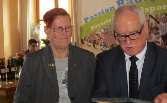 Elfriede Hortsch bei einer Ehrung im März 2018
